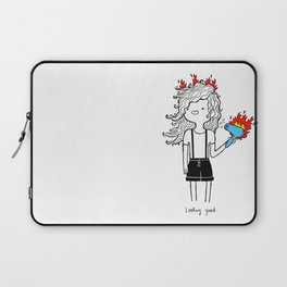 On Fire by Sarah Pinc Laptop Sleeve