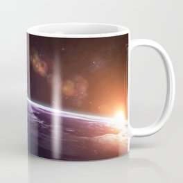 Earth and Rising Sun Coffee Mug
