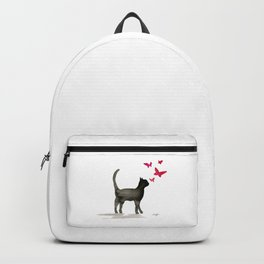 I Love Cats No. 3 by Kathy Morton Stanion Backpack