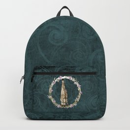Lar Gibbon Lily Wreath Backpack