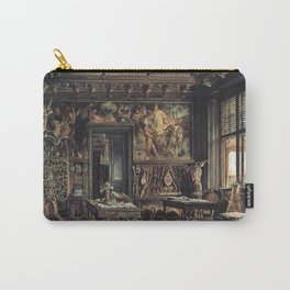 The Library In The Palais Dumba 1877 by Rudolf von Alt | Reproduction Carry-All Pouch