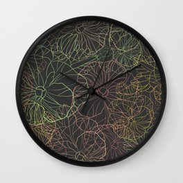 Floral Pansy Pattern Wall Clock