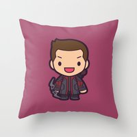 archer Throw Pillows featuring Archer by Papyroo