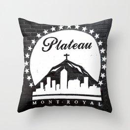 Montreal - Mural Plateau Throw Pillow