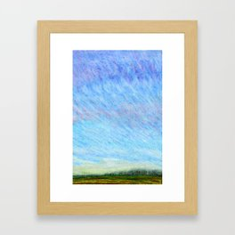 Pastel blue sky Framed Art Print