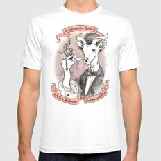 The Unexpected Liaison Mens Fitted Tee White SMALL