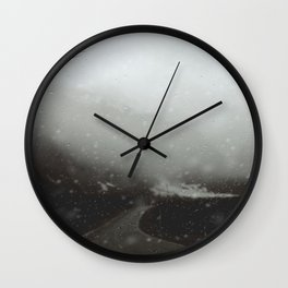 Escaping an Avalanche at Milford Sound Wall Clock