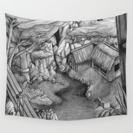 Within ancient ruins Wall Tapestry