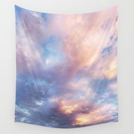Sunset | Pink Clouds | Sky | Rainbow | Unicorn Colours | Nature Wall Tapestry