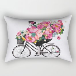 floral bicycle Rectangular Pillow