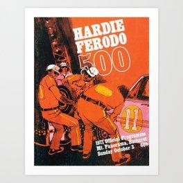 Vintage 1970s Australian Race Poster Art Print