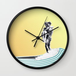 Surf Date Wall Clock