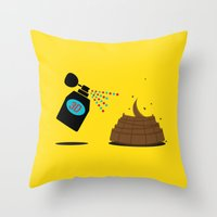 3d Throw Pillows featuring 3D by Viktor Hertz