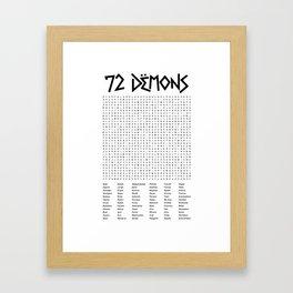 72 Demons Framed Art Print