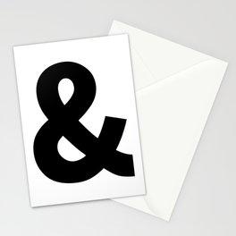 Ampersand (Black & White) Stationery Cards