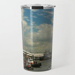 Elbharmonie With Harbor Scene Travel Mug
