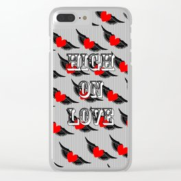 """High on Love"" Clear iPhone Case"