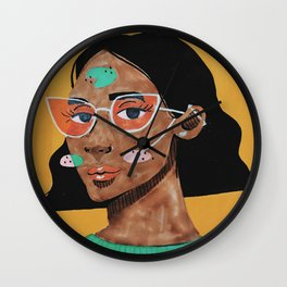 Current fashion girl Wall Clock
