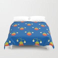 Fruit: Strawberry Duvet Cover