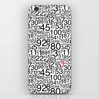 numbers iPhone & iPod Skins featuring Numbers by Marissa Regelin