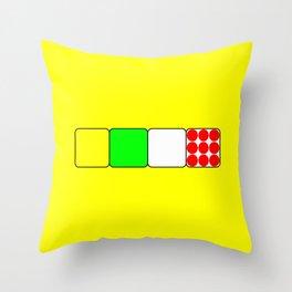 The Bicycle Race Jerseys 2 Yellow Throw Pillow