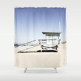 Hermosa Beach Tower 5 Shower Curtain