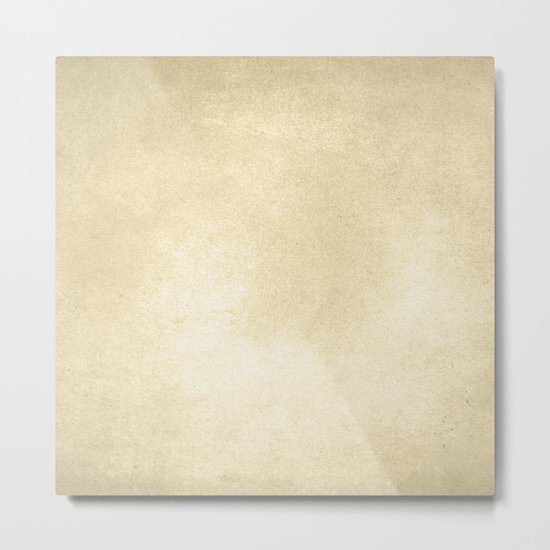 Simply Antique Linen Paper Metal Print