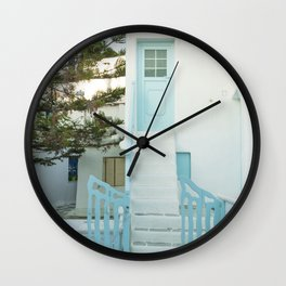 Doorstep to a Greek home Wall Clock