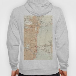 Vintage Map of Miami Florida (1950) Hoody