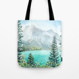Emerald Lake Watercolor Tote Bag