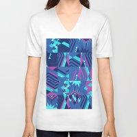 pocahontas V-neck T-shirts featuring Pocahontas by Sammy Cee