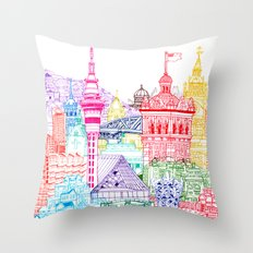 New Zealand Towers  Throw Pillow