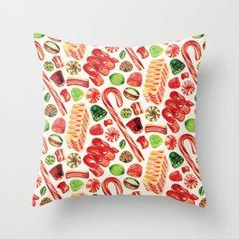 Christmas Candy Pattern Deko-Kissen
