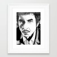 bob dylan Framed Art Prints featuring Bob Dylan by Jocke Hegsund