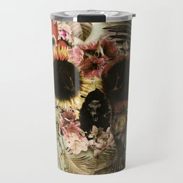 Garden Skull Light Travel Mug