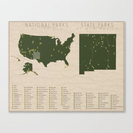US National Parks - New Mexico Canvas Print