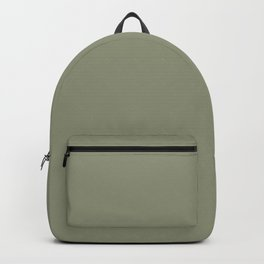 Neutral Mid-tone Green Solid Color Pairs Valspars 2022 Color of the Year Blanched Thyme 6001-4A Backpack