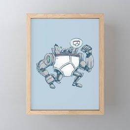 Uber UnderwearBot Framed Mini Art Print