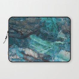 Cerulean Blue Marble Laptop Sleeve