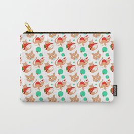 Festive Cats Carry-All Pouch