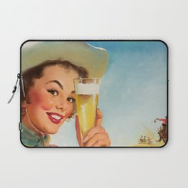 Pin Up Girl and Beer Vintage Art Laptop Sleeve