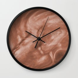 Flowing Pearlescent Haze Sherwin Williams Cavern Clay SW7701 Wall Clock