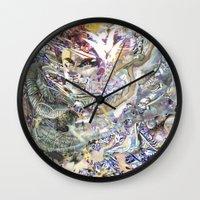 technology Wall Clocks featuring Technology Glump by Karl Frey