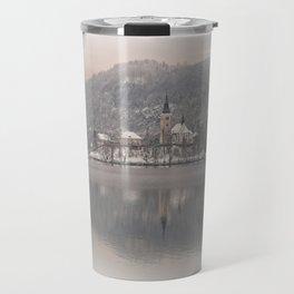 Wintry Bled Island Travel Mug
