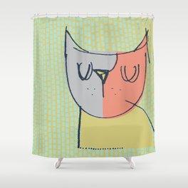 Cubist Cat Study #3 by Friztin Shower Curtain
