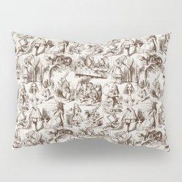 Alice in Wonderland | Toile de Jouy | Brown and Beige Pillow Sham