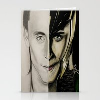 tom hiddleston Stationery Cards featuring Tom Hiddleston by Goolpia