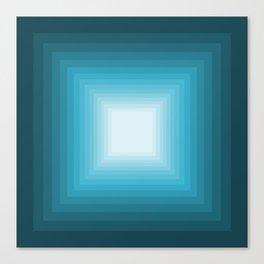 Turquoise Square Gradient Canvas Print