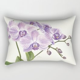 Purple phalaenopsis artwork Rectangular Pillow