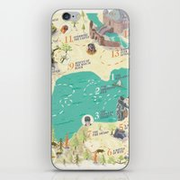 princess bride iPhone & iPod Skins featuring Princess Bride Discovery Map by Wattle&Daub